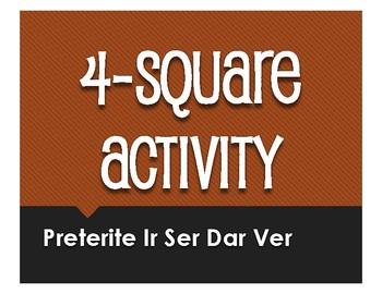 Spanish Preterite Ir Ser Dar Ver Four Square Activity