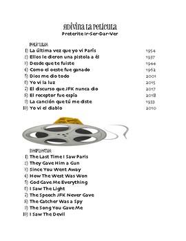Spanish Preterite Ir Ser Dar Ver Movie Titles