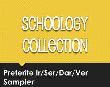 Spanish Preterite Ir Ser Dar Ver Schoology Collection Sampler