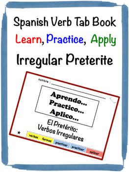 Spanish Preterite (Irregular) Tab Book