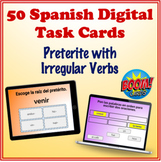 Spanish Preterite (Irregular Verbs) Digital Task Cards (50