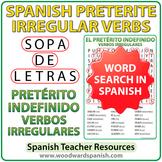 Spanish Preterite - Irregular Verbs Word Search