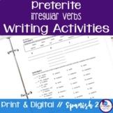 Spanish Preterite Irregular Verbs Writing Exercises