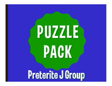 Spanish Preterite J Group Puzzle Pack