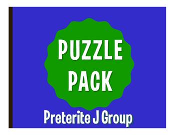 Spanish Preterite J Group Puzzle Pack