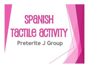 Spanish Preterite J Group Tactile Activity
