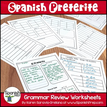 Spanish Preterite Review with Answer Key