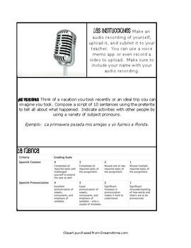 Spanish Preterite Paperless Challenges