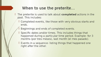 Spanish Preterite PowerPoint