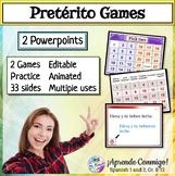 "Spanish Preterite PowerPoint Games (Piensa-""Jeopardy""); Pi"