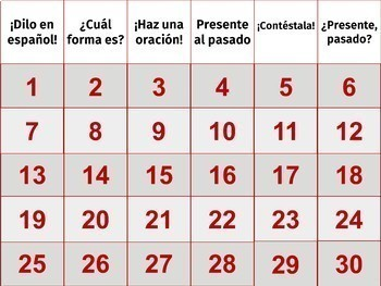 """Preterite 2 PowerPoint Games (Piensa-""""Jeopardy""""); Pick Two (Subject/Verb)"""