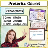 Preterite 2 PowerPoint Games (Piensa-Question/Answer); Pic