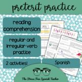 Spanish Preterit Reading Comprehension and Verb Conjugation