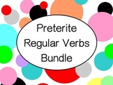Spanish Preterite Regular -AR -ER -IR Verbs Bundle - Slideshows, Worksheets Pack