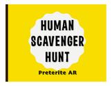 Spanish Preterite Regular AR Human Scavenger Hunt