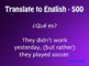 Spanish Preterite Regular AR Jeopardy-Style Review Games