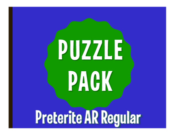 Spanish Preterite Regular AR Puzzle Pack