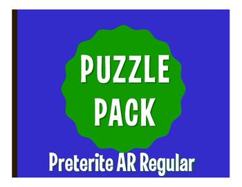 Spanish Preterite Regular AR Puzzle Pack