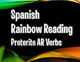 Spanish Preterite Regular AR Rainbow Reading