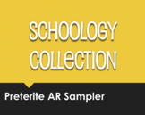 Spanish Preterite Regular AR Schoology Collection Sampler