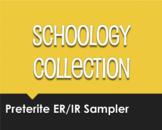 Spanish Preterite Regular ER and IR Schoology Collection Sampler