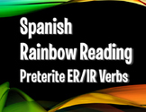 Spanish Preterite Regular ER and IR Rainbow Reading