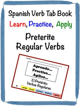 Spanish Preterite (Regular) Tab Book
