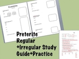 Spanish Preterite: Regular and Irregular verbs study guide