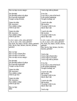 Spanish Preterite Song - to the tune of Despacito
