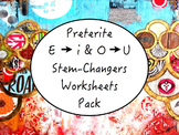 Spanish Preterite Stem-Changing Verbs (E to I & O to U) Wo