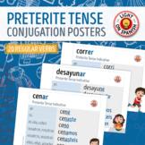 Spanish Preterite Tense 20 Regular Verbs Conjugation Charts
