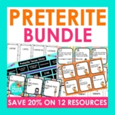 Spanish Preterite Tense Bundle (Games, Task Cards, Quizzes, and More!)