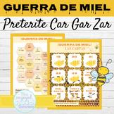 Spanish Preterite Tense CAR GAR ZAR Verbs Game GUERRA DE MIEL
