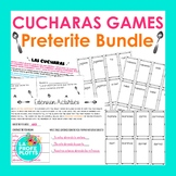 Preterite Tense Cucharas Games BUNDLE    Spanish Spoons Games