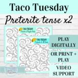 Spanish Preterite Tense Activities | Digital or Print Taco
