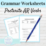 Spanish Preterite Tense AR Verbs Grammar Worksheets