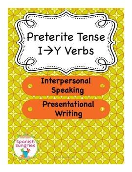 Spanish Preterite Tense I to Y Verb Activities