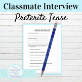 Spanish Preterite Tense Interview Activity