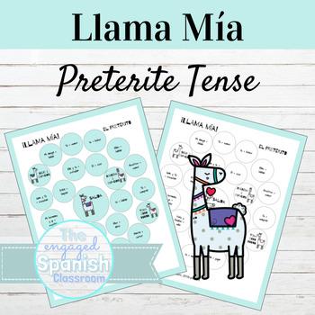 Spanish Preterite Tense Llama Mía Speaking Activity