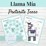 Spanish Preterite Tense Llama Mía Speaking Activity