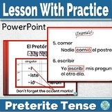 Spanish Preterite Tense PowerPoint Lesson With Animated Practice