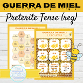 Spanish Preterite Tense Regular Verbs Game GUERRA DE MIEL