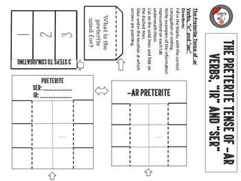 """Spanish Preterite Tense + """"Ser"""" in the Preterite Tense Interactive Notebook Page"""