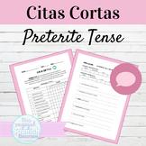 Spanish Preterite Tense Citas Cortas Speaking Activity