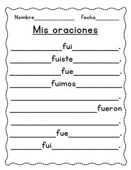 Spanish Preterite Tense - TFL and Dual Language applications
