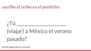 Spanish Preterite Tense Word Race FREEBIE!! -AR Verbs Only