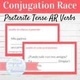 Spanish Preterite Tense AR Verbs Word Race FREE