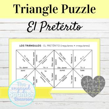 Spanish Preterite Tense (pretérito) Conjugation Puzzle: Regular/Irregular verbs