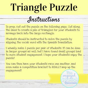Spanish Preterite Tense Regular Verbs Puzzle