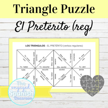 Spanish Preterite Tense (el pretérito) Conjugation Puzzle: